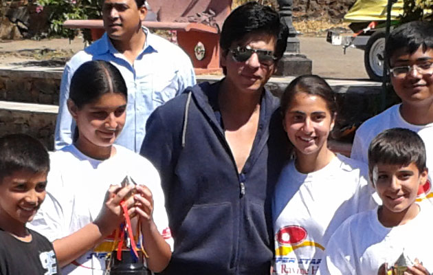 Shahrukh Khan at tennis tournament