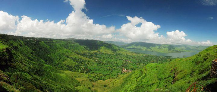 paragliding view of Krishna valley
