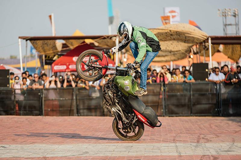 Biker Stunt rider